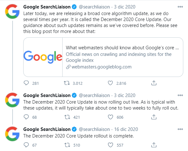 Primo su Google 2021 - Exedere Web Marketing